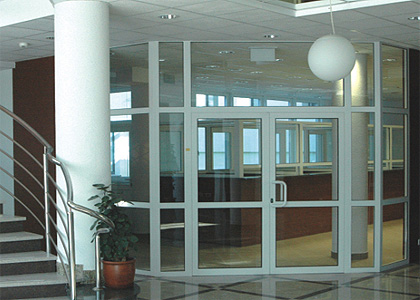 Hopper Opening Swing Door